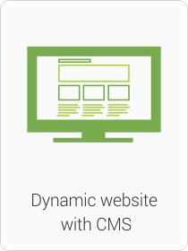 Dynamic website  with CMS